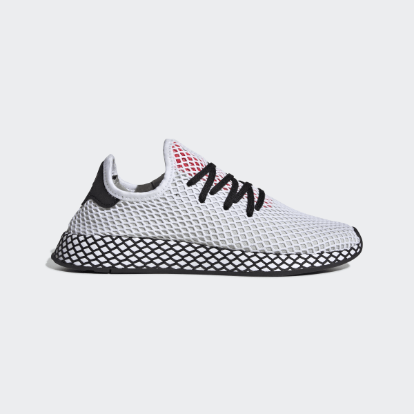 check out 9fb85 6b5f4 Chaussure Deerupt Runner Ftwr White  Core Black  Shock Red DB2686