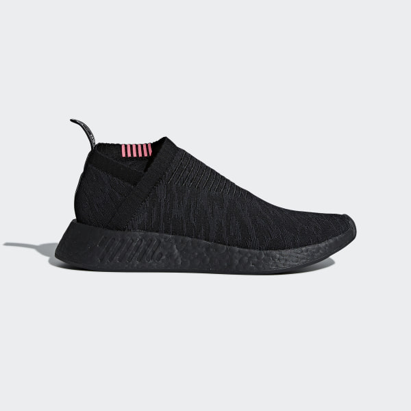 7a8b5332e561d0 NMD CS2 Primeknit Shoes Core Black   Carbon   Shock Pink CQ2373
