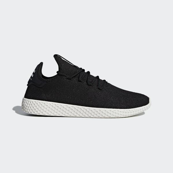 dc5221292 Chaussure Pharrell Williams Tennis Hu Core Black   Core Black   Chalk White  AQ1056