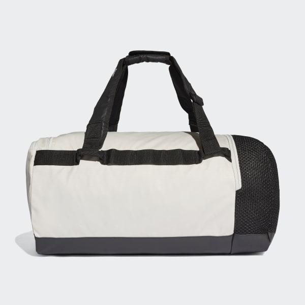 3c7506255fce2 Convertible Training Duffel Bag Medium Raw White   Black   White DT4815