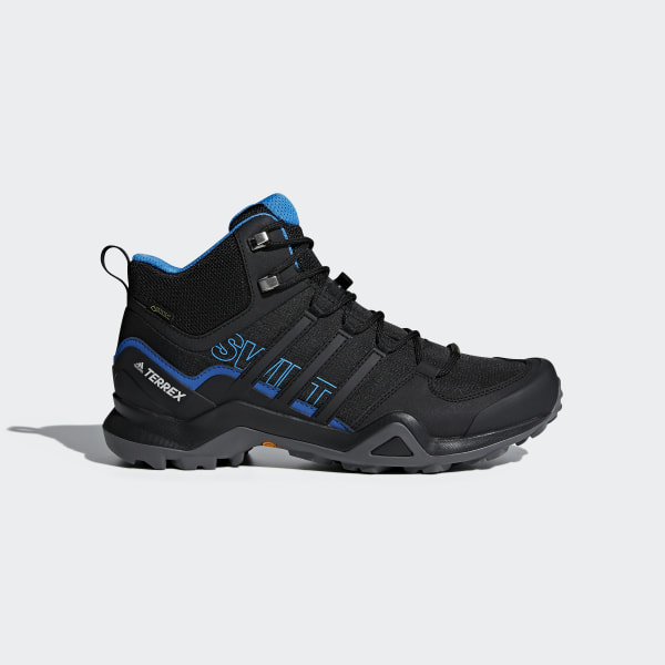 d6aca0db430f38 Terrex Swift R2 Mid GTX Shoes Core Black   Core Black   Bright Blue AC7771