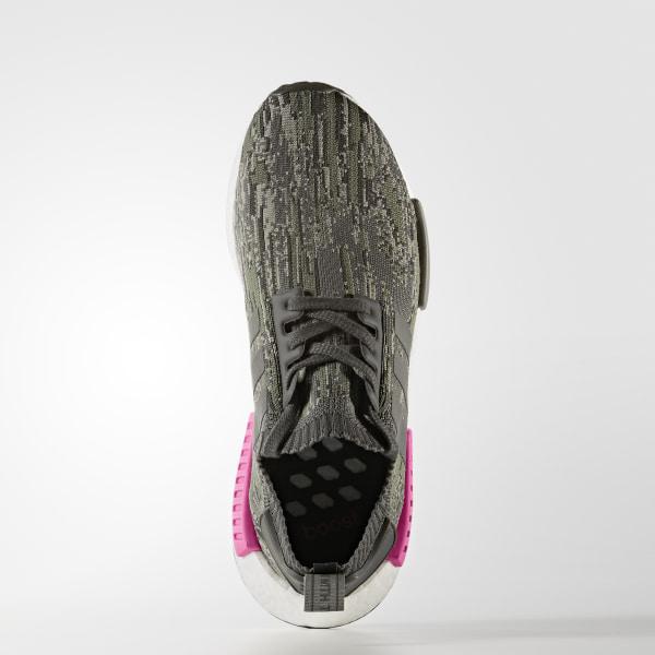 ef622d56f231b NMD R1 Primeknit Shoes Green   Utility Grey   Utility Grey   Shock Pink  BZ0222