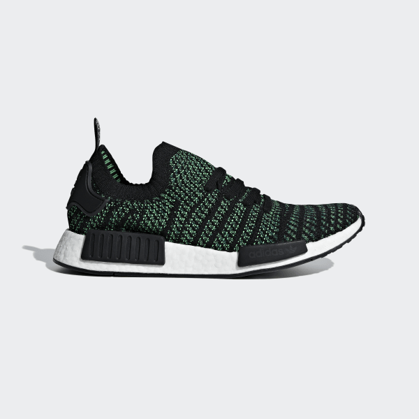 c9df05a6d NMD R1 STLT Primeknit Shoes Noble Green   Core Black   Bold Green AQ0936