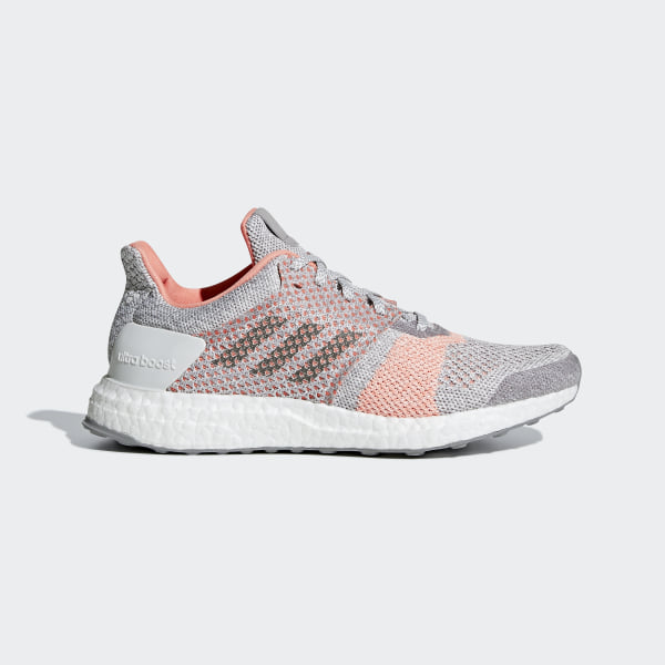 c4dc93c84a4 Ultraboost ST Shoes Crystal White   Grey Four   Clear Orange BB6481