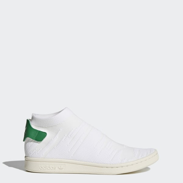 Stan Smith Shock Primeknit Shoes Cloud White   Cloud White   Green BY9252 84492b065
