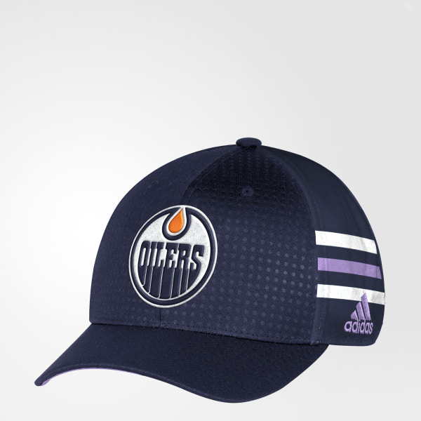new style d843d cbd8e ... usa hockey fights cancer oilers structured flex cap blue db9947 63b82  1d329