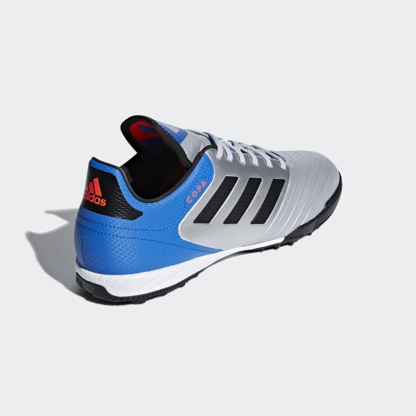 new concept b45b2 f6cd7 Scarpe da calcio Copa Tango 18.3 Turf Silver Met.   Core Black   Football  Blue