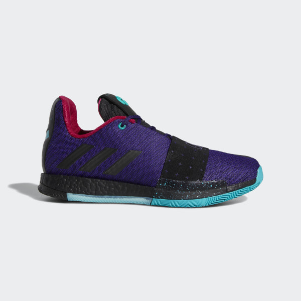 Harden Vol. 3 Shoes Collegiate Purple   Core Black   Hi-Res Aqua B42005 b6eb80ccde