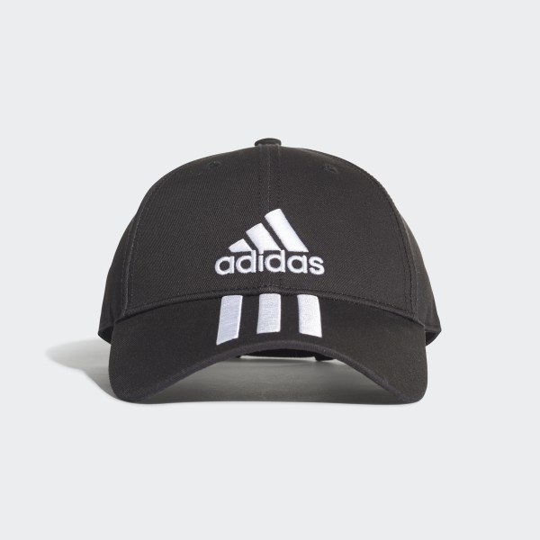 a202f2c8881 Six-Panel Classic 3-Stripes Cap Black   White   White DU0196