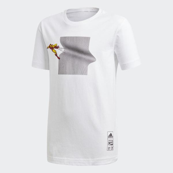 adidas Camiseta Marvel Iron Man - Blanco  7f924e3e63be8