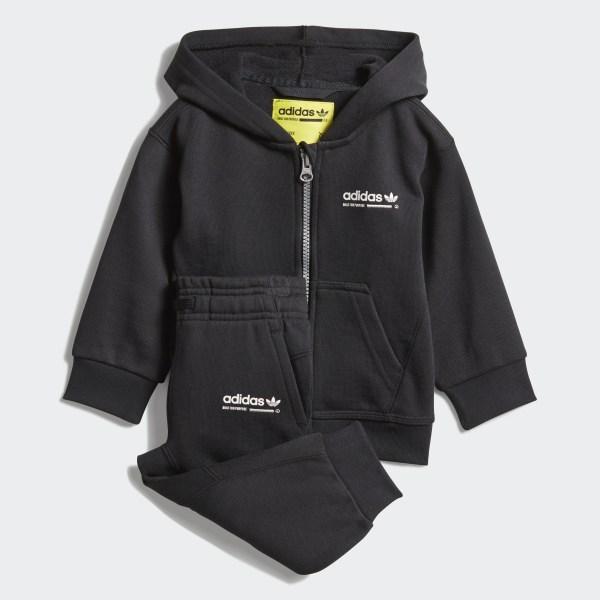 Conjunto Polerón con Capucha Kaval - Negro adidas  c09e62766a30a