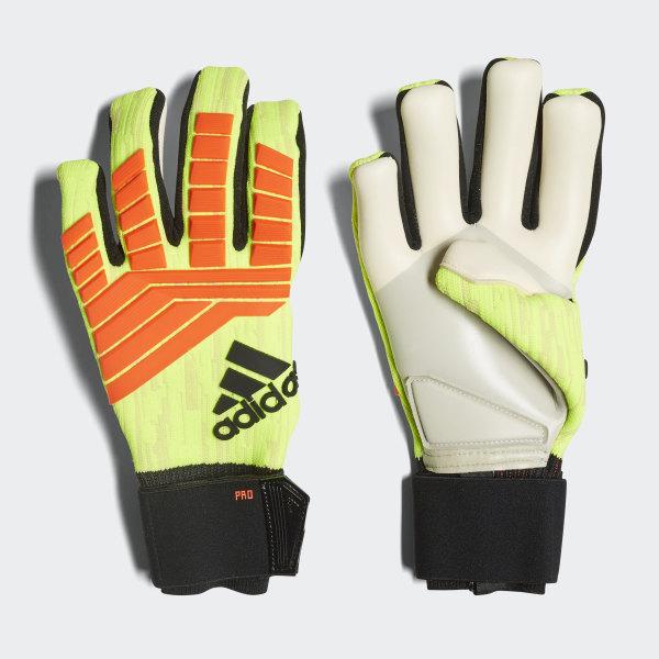 Predator Pro Gloves Solar Yellow   Solar Red   Black CW5588 ae912076e
