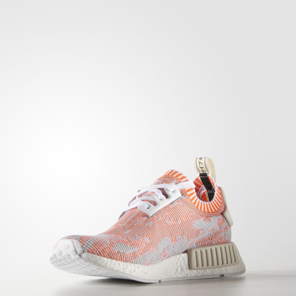 9bdda34790214 NMD R1 Primeknit Shoes Cloud White   Solar Red   Off White BA8599
