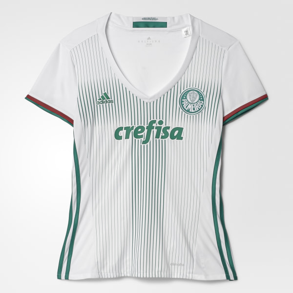 Camisa Feminina Palmeiras 2 WHITE BOLD GREEN SCARLET AI9182 b9825b264bc79