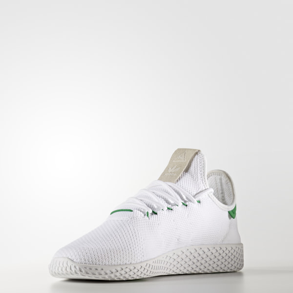 db79e6b76263 Pharrell Williams Tennis Hu Primeknit Shoes Ftwr White   Ftwr White   Green  BA7828