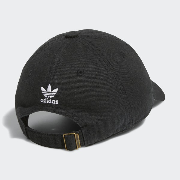 aed89669dac6 Originals Relaxed Strap-Back Hat Black   White BH7137