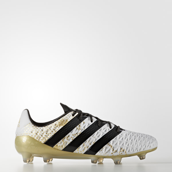 super popular b68fa 379ae Zapatos de fútbol para pasto natural ACE 16.1 WHITE CORE BLACK GOLD MET.