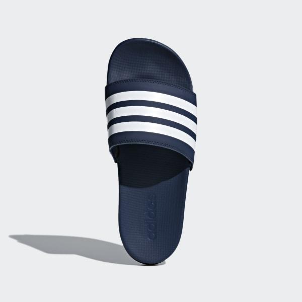 8a0b1f69fb7c Adilette Cloudfoam Plus Stripes Slides Collegiate Navy   Cloud White    Collegiate Navy DA9340