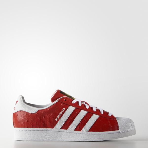new styles 1d71e 74f23 Tenis Superstar Animal RED WHITE GOLD METALLIC S75158