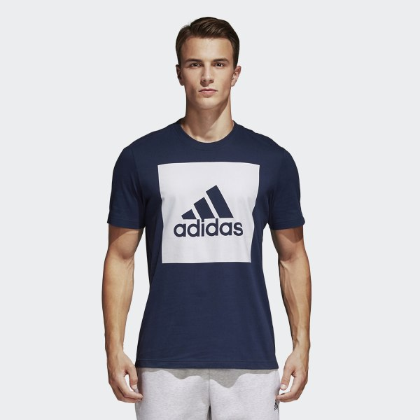 1e894f328774 Tričko Essentials Box Logo Collegiate Navy S98726