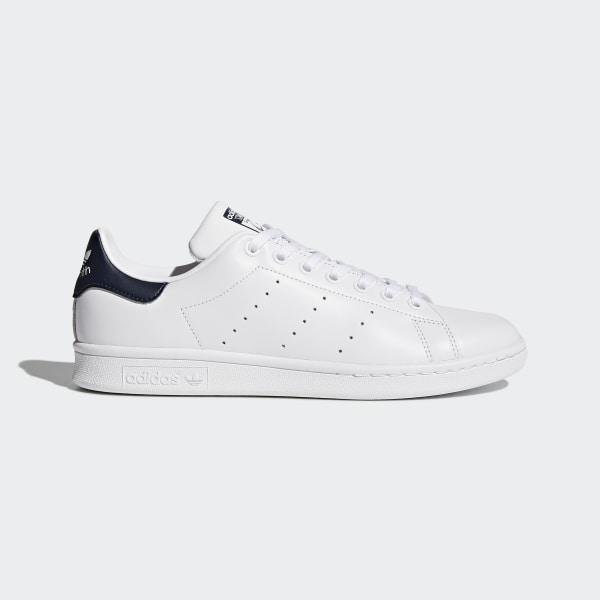 new style 6a54b a7cde Scarpe Stan Smith Core White   Dark Blue   Dark Blue M20325