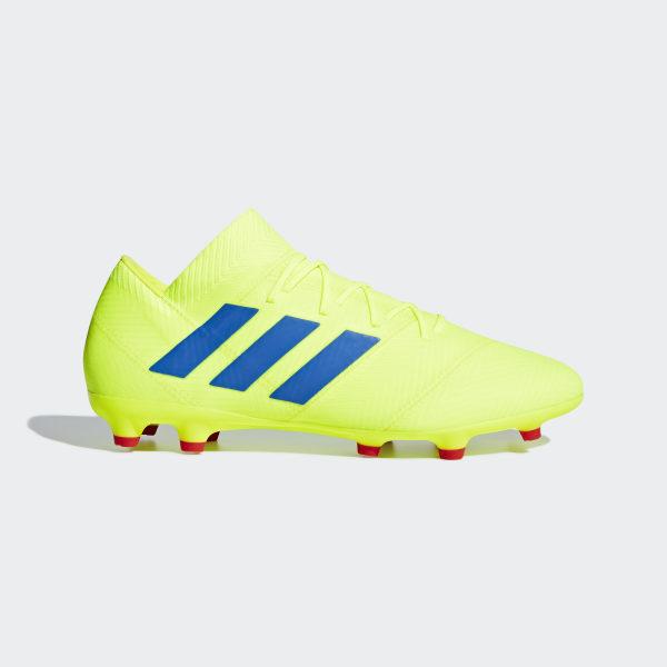 d58e3d8b172b3 Zapatos de Fútbol Nemeziz 18.2 Terreno Firme Solar Yellow   Football Blue    Active Red BB9431
