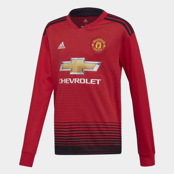 071ad8ca2 Manchester United Home Jersey Real Red   Black CG0046