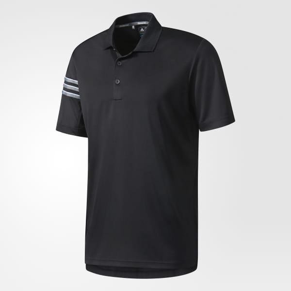 new concept 07156 91de5 Playera Polo Climacool 3 Tiras Club Crestable BLACK BC2432