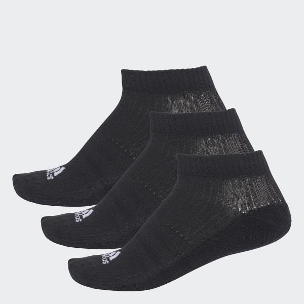 cecadaecb45 3-Stripes No-Show Socks 3 Pairs Black White AA2280