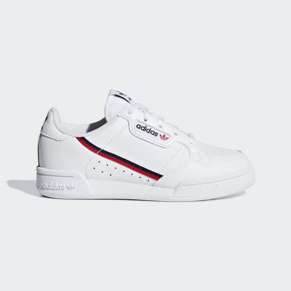 adidas continental 80 uomo bianco e rosso  Scarpe Continental 80 - Bianco adidas | alia