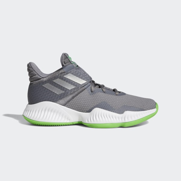 abbc5a8f8d2f Explosive Bounce 2018 Shoes Grey Three   Silver Metallic   Shock Lime B96264