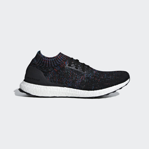 b13a4185f UltraBOOST Uncaged Core Black   Active Red   Blue B37692
