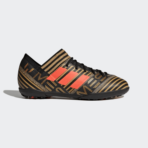 buy online 6ea21 cbd45 Nemeziz Messi Tango 17.3 Turf Boots Core Black   Solar Red   Tactile Gold  Met.