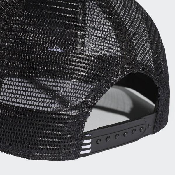Cappellino Trefoil Trucker - Nero adidas  8469404ecc6e