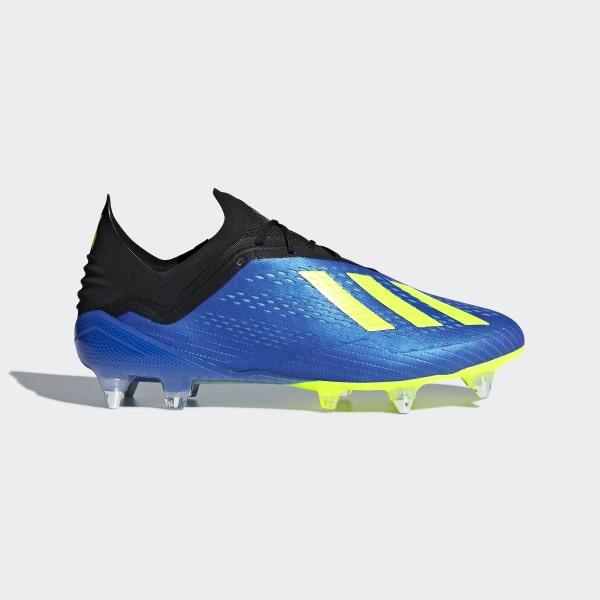 90af9c55d2f Botines X 18.1 Terreno Firme FOOTBALL BLUE SOLAR YELLOW CORE BLACK CM8373