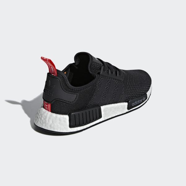 92e4dc4e4 NMD R1 Shoes Core Black   Core Black   Solar Orange B37621