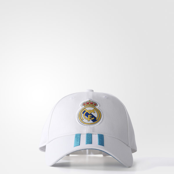 361db194e08df Gorra 3 franjas Real Madrid WHITE VIVID TEAL S13 BR7157