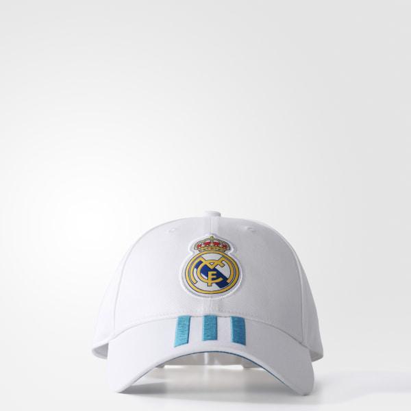 Gorra Real Madrid 3 Tiras WHITE VIVID TEAL S13 BR7157 195f5ab2001