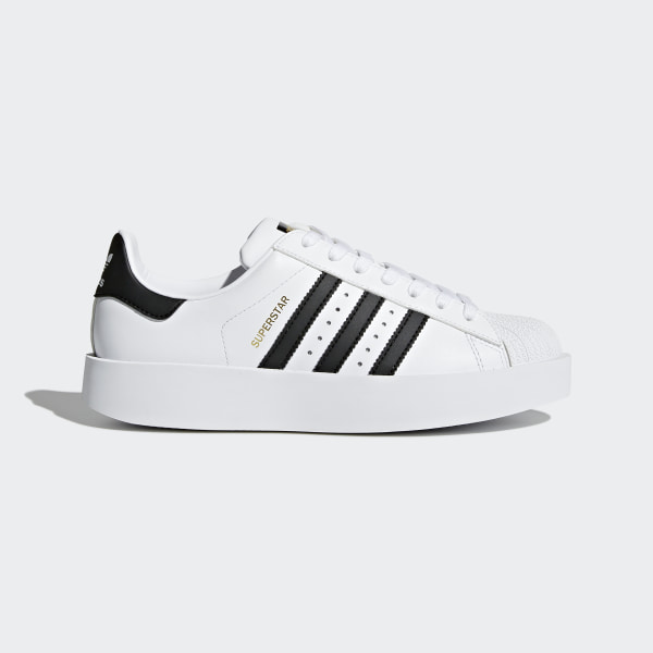 sports shoes 7daa1 d534b Tenis Superstar Bold Platform FTWR WHITE CORE BLACK GOLD MET. BA7666