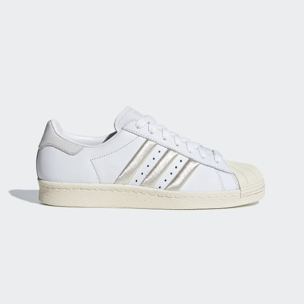 f6d269539d5 Sapatos Superstar 80s Ftwr White   Grey One   Off White CG5997