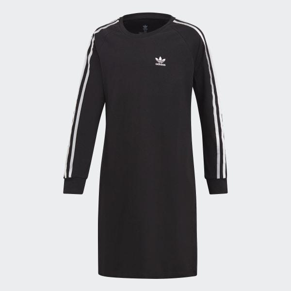 Šaty 3-Stripes Black   White DV2887 7665ebb1d78