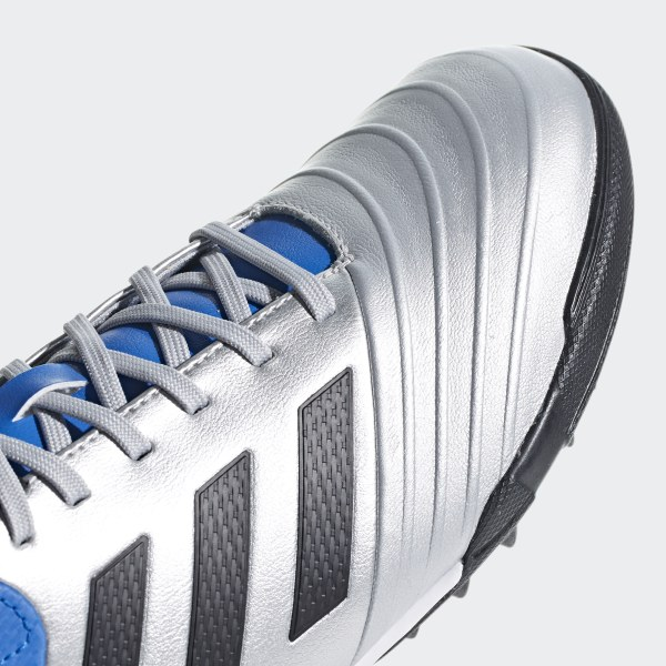 official photos 1c953 39f3b Copa Tango 18.3 Turf Boots Silver Met.  Core Black  Football Blue DB2410