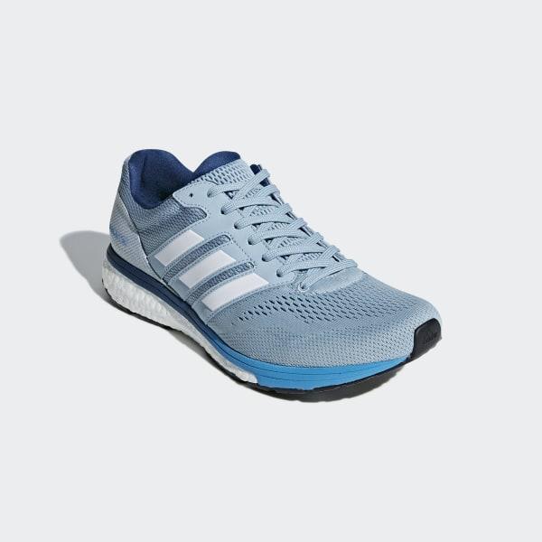 low priced 792f6 e44ca Adizero Boston 7 Shoes Ash Grey  Cloud White  Shock Cyan B37380
