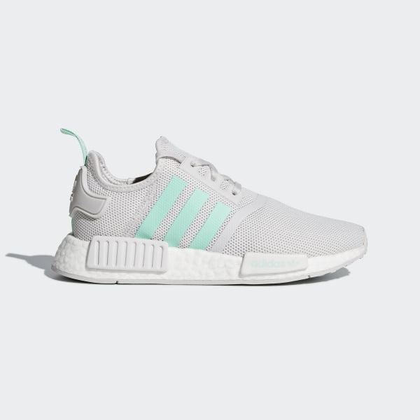 77e3df4f1750fe NMD R1 Shoes Grey One   Clear Mint   Clear Mint D96689