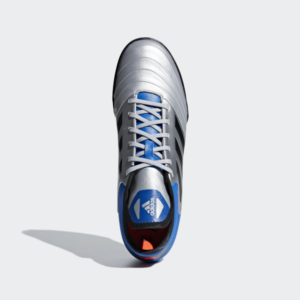 official photos 70b2e 68fc5 Copa Tango 18.3 Turf Boots Silver Met.  Core Black  Football Blue DB2410