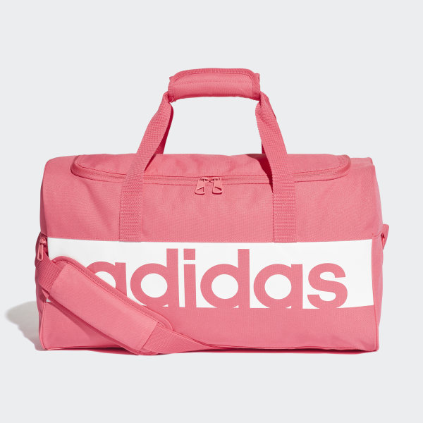 d33b3b8be378 Linear Performance Duffel Bag Small Real Pink   White   White DM7650