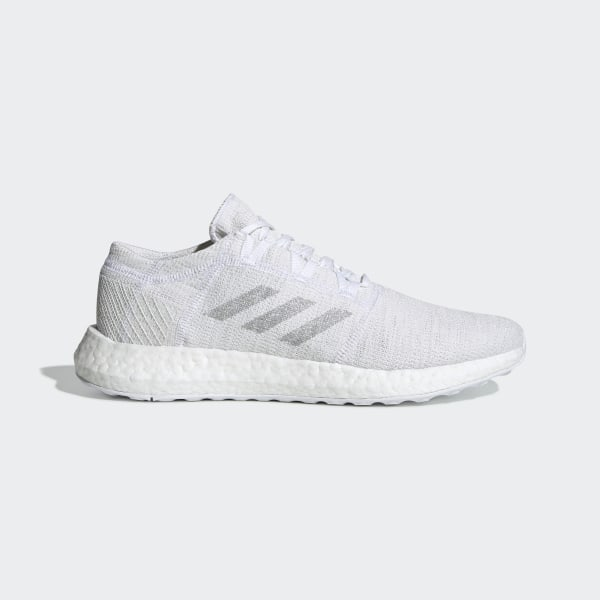 0195262bc8e66 Pureboost Go Shoes Cloud White   Light Solid Grey   Crystal White F35787