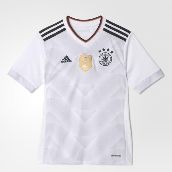 fb071ee6af Camisa Alemanha 1 Infantil WHITE BLACK B47863