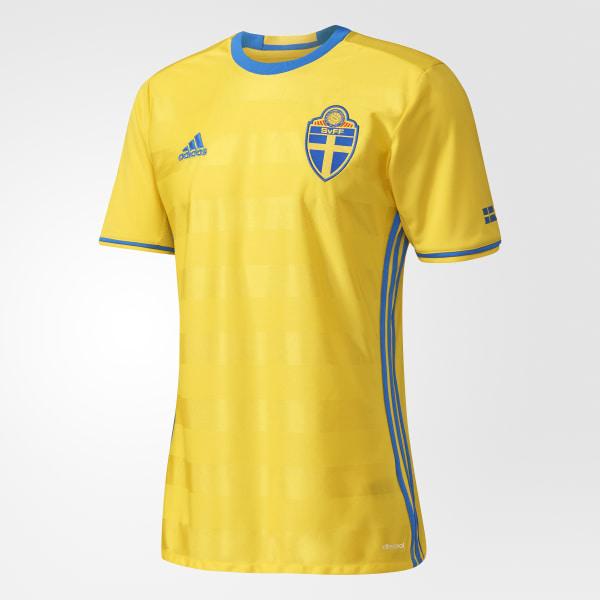 Camiseta primera equipación Suecia UEFA EURO 2016 Yellow Bright Royal AI4748 d2701044346