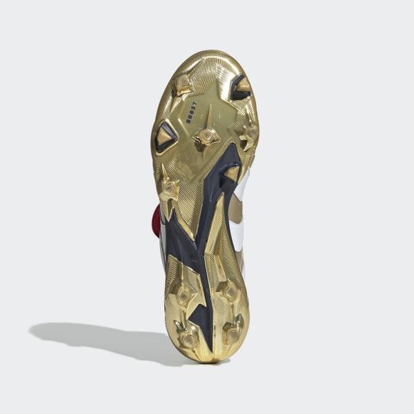 4d2b85cdaad Chaussure Predator Accelerator Terrain souple Zinédine Zidane Gold Met.    Ftwr White   Collegiate Navy